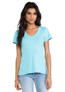 Velvet by Graham & Spencer Lilith Cotton Slub Tee in Turquoise