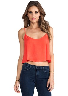 Velvet by Graham & Spencer Lily Aldridge for Velvet Behati Rayon Voile Top in Orange