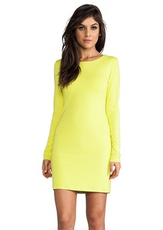 Velvet by Graham & Spencer Lily Aldridge for Velvet Beki Rayon Jersey Dress in Yellow