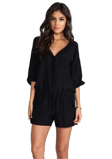 Velvet by Graham & Spencer Lily Aldridge for Velvet Tracey Cotton Sateen Romper