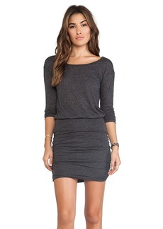 Velvet by Graham & Spencer Marisol Soft Textured Knit Dress in Charcoal
