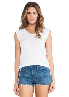 Velvet by Graham & Spencer Merrilee Heather Blend Knit Tank in White