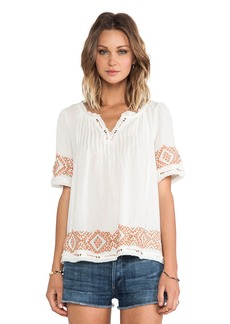 Velvet by Graham & Spencer Milie Cotton Gauze Embroidery Top