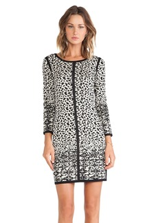 Velvet by Graham & Spencer Mya Snow Leopard Jacquard Dress