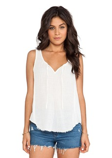Velvet by Graham & Spencer Naya Sheer Jersey Tank in Ivory