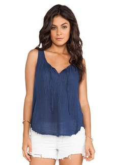 Velvet by Graham & Spencer Naya Sheer Jersey Tank in Navy
