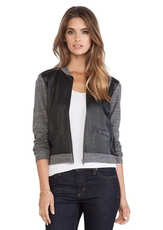 Velvet by Graham & Spencer Noria Jersey w/ Faux Leather Jacket
