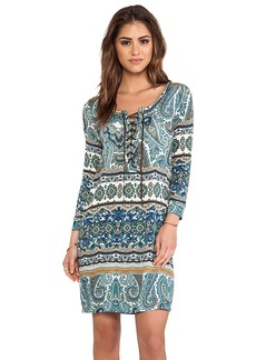 Velvet by Graham & Spencer Posy Taj Print Dress in Blue