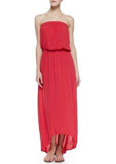 Velvet by Graham & Spencer Power Strapless Arched Voile Maxi Dress, Red