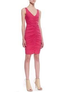 Velvet by Graham & Spencer Ruched-Front V-Neck Dress