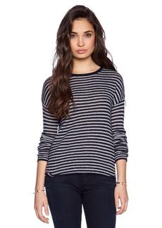 Velvet by Graham & Spencer Sheer Cashmere Striped Tirion Sweater