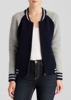 Velvet by Graham & Spencer Sweater Jacket - Boyfriend Varsity