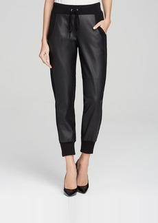 Velvet by Graham & Spencer Sweatpants - Faux Leather Combo
