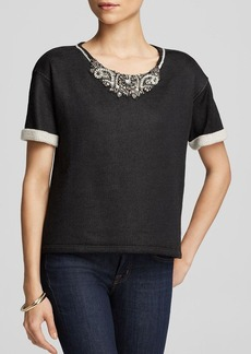 Velvet by Graham & Spencer Sweatshirt - Bloomingdale's Exclusive Jewel Neck