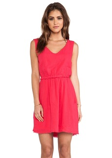 Velvet by Graham & Spencer Teagan Sheer Jersey Dress in Fuchsia