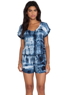 Velvet by Graham & Spencer Tie Dye Rayon Voile Romper