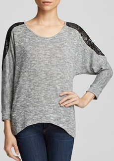 Velvet by Graham & Spencer Top - Bloomingdale's Exclusive Loose Knit Lace