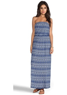 Velvet by Graham & Spencer Velvet Aztec Stripe Glory Dress in Blue
