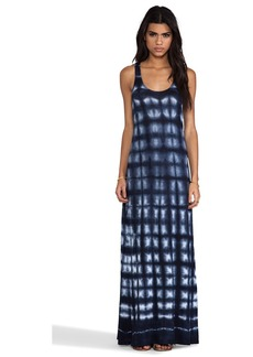 Velvet by Graham & Spencer Velvet Tie Dye Luxe Eldon Dress in Navy