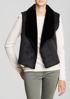 Velvet by Graham & Spencer Vest - Twiggy Faux Sherpa