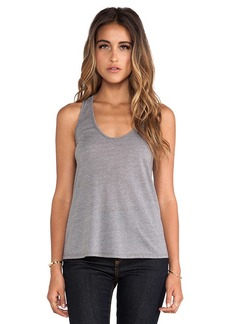 Velvet by Graham & Spencer Wendie Heather Blend Knit Tank in Gray