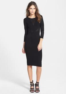 Velvet 'Engineered' Body-Con Dress