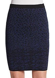 velvet BY GRAHAM & SPENCER Izella Snow Leopard Jacquard Skirt