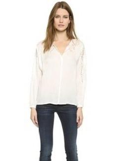Velvet Lace Embellished Blouse