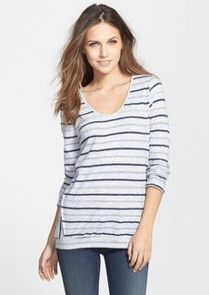 Velvet Long Sleeve Marble Stripe Sweater
