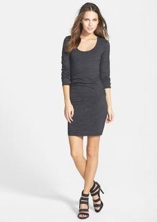 Velvet Ruched Long Sleeve Dress