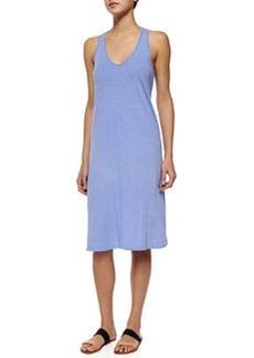 Velvet Sleeveless Cross-Back Knit Midi Dress, Parfait