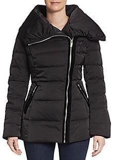 Vera Wang Asymmetrical Quilted Puffer Jacket