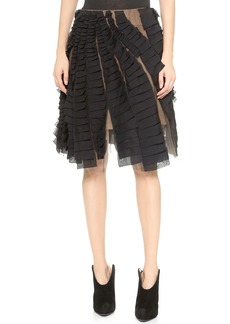 Vera Wang Collection Swirling Swing Skirt