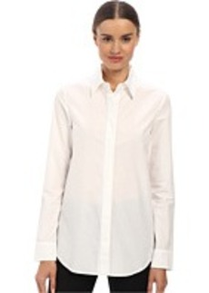 Vera Wang Cotton Poplin Oxford Top w/ Passementiere