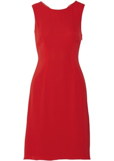 Vera Wang Cowl-back silk-chiffon dress