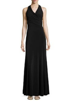 Vera Wang Cross-Front Gown, Black