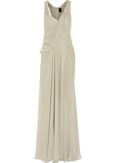 Vera Wang Draped silk-chiffon gown