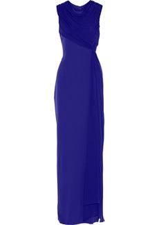 Vera Wang Draped silk gown