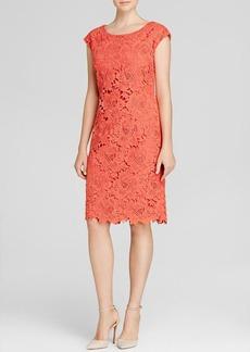 Vera Wang Dress - Cap Sleeve Lace Sheath