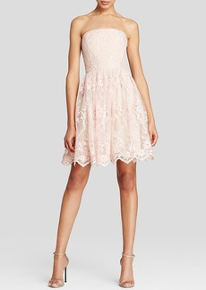 Vera Wang Dress - Strapless Floral Lace Tulle