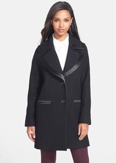 Vera Wang Drop Shoulder Wool Blend Coat