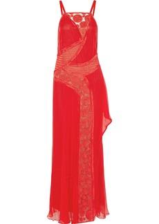 Vera Wang Embellished silk-chiffon gown