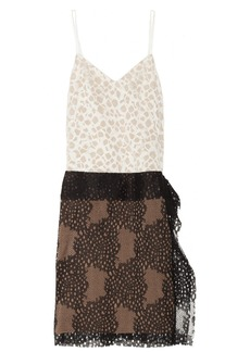 Vera Wang Embroidered lace dress