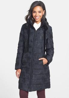 Vera Wang Faux Fur Trim Down Coat (Online Only)