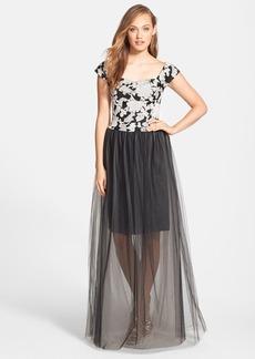 Vera Wang Illusion Skirt Gown