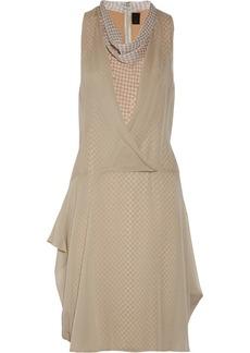 Vera Wang Layered silk-chiffon dress