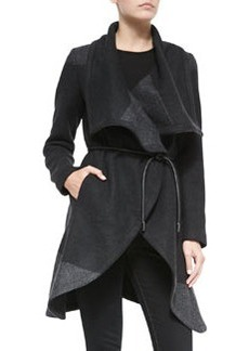 Vera Wang Outerwear Colorblock Wrap Belted Coat