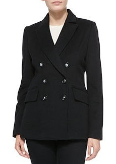 Vera Wang Outerwear Wool-Blend Double-Breasted Coat