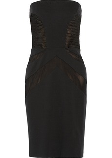 Vera Wang Paneled stretch-jersey dress