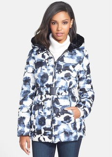 Vera Wang Print Belted Down Jacket (Online Only)